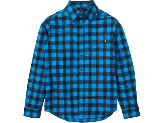 Marmot Bodega Lightweight Camisa Franela Manga Larga Hombre, azul/negro